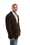African American Male Model on Isolated Background Stock Photography