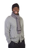 African American Male Model on Isolated Background Stock Photos