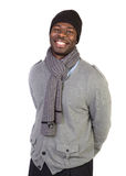 African American Male Model on Isolated Background Royalty Free Stock Photo