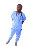 African American Male Nurse. In Scrubs Stock Photos
