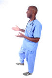 African American Male Nurse. In Scrubs Royalty Free Stock Photography