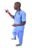 African American Male Nurse. In Scrubs Royalty Free Stock Images