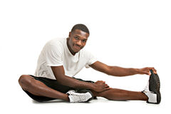 African American Male Ready Workout Stock Photo