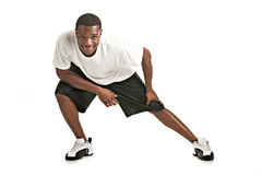 African American Male Ready Workout Royalty Free Stock Photo