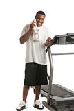 African American Male Ready Workout Stock Images