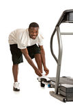 African American Male Ready Workout Royalty Free Stock Image