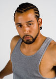 African American male staring at camera Royalty Free Stock Photo
