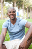 African American male student on campus Royalty Free Stock Images