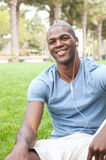 African American male student on campus Stock Image