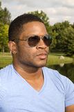 African American Male with Sunglasses Stock Photography