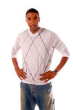 African American Man. Casual Fashions on a handsome African American male model Stock Images