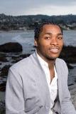 African American Man at Beach Stock Photos