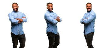 African young man isolated over white background stock photos