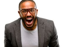 Handsome african american man royalty free stock photography