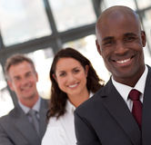 African American Man Business leading a team Stock Image