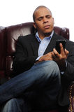 African American Man with Cell Phone royalty free stock photography