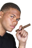 African American man with cigar Stock Photos