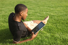 African American man enjoying the outdoors Royalty Free Stock Photography