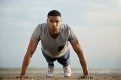African american man exercising outdoors Stock Photos