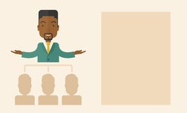African-american man giving a buisness speech Royalty Free Stock Images