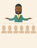 African-american man giving a buisness speech Stock Images