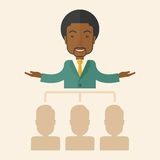 African-american man giving a buisness speech Stock Photos