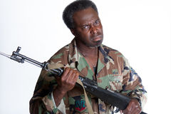 African American man with gun Stock Images