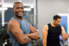 African american man gym Stock Image