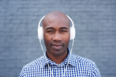 African american man with headphones Stock Image