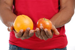 African american man holding fruits Royalty Free Stock Images