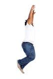 African american man jumping Royalty Free Stock Image