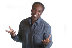 African american man with open arms Stock Photography