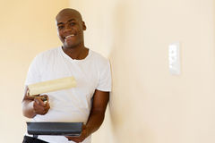 African american man painting Royalty Free Stock Photography