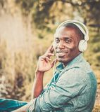 African american man in a park Royalty Free Stock Images