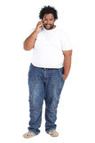 African american man phone Stock Photography