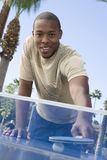 African American Man Playing Table Tennis Royalty Free Stock Photo