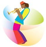 African American man playing trumpet Royalty Free Stock Image