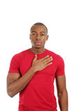 African american man pledging Stock Photography