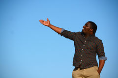African American man pointing Royalty Free Stock Photo