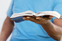African American man reading. Royalty Free Stock Images