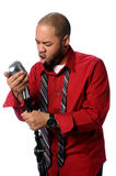 African American man Singing Royalty Free Stock Images
