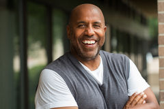 African American man smiling. Royalty Free Stock Photo