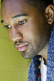 African-American Man, thinking Stock Image