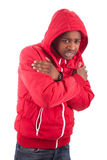 African American man wearing a winter coat Stock Photos