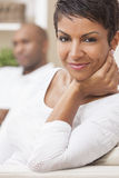 African American Man Woman Couple At Home Royalty Free Stock Photography