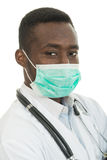 African-American Medical doctor man isolated white background Stock Images