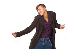 African American Modern Dancer Royalty Free Stock Photography