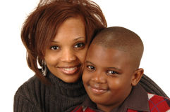 African american mother and so Royalty Free Stock Photo