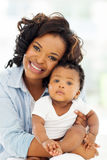 African american mother baby Stock Photo