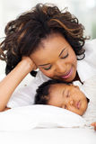 African american mother baby Stock Images